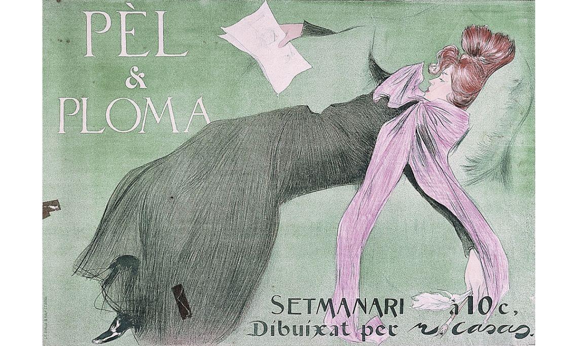 Cartell de la revista Pèl i Ploma, Ramon Casas i Carbó, 1899, cromolitografia, 62 × 88 cm