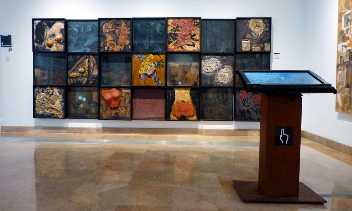 Módulo interactivo dedicado a la obra Homenaje a Sarajevo, del artista Jaume Solé