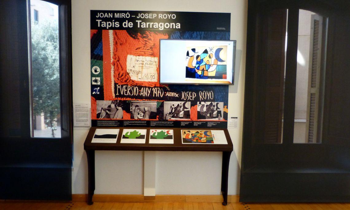 Espai tactovisual dedicat al Tapís de Tarragona, de Joan Miró i Josep Royo.