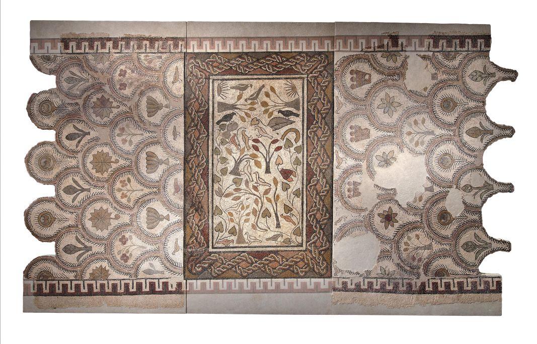 Mosaic que originalment embellia la vil·la romana del Romeral (Albesa).