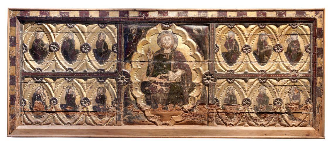 Frontal d'altar de Santa Maria la Blanca de Berbegal, representatiu de l'estil 1200 a l'Aragó.