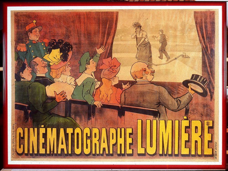 Cinématographe Lumière poster, Marcellin Auzolle, E. Pichot (editor), France, 1896