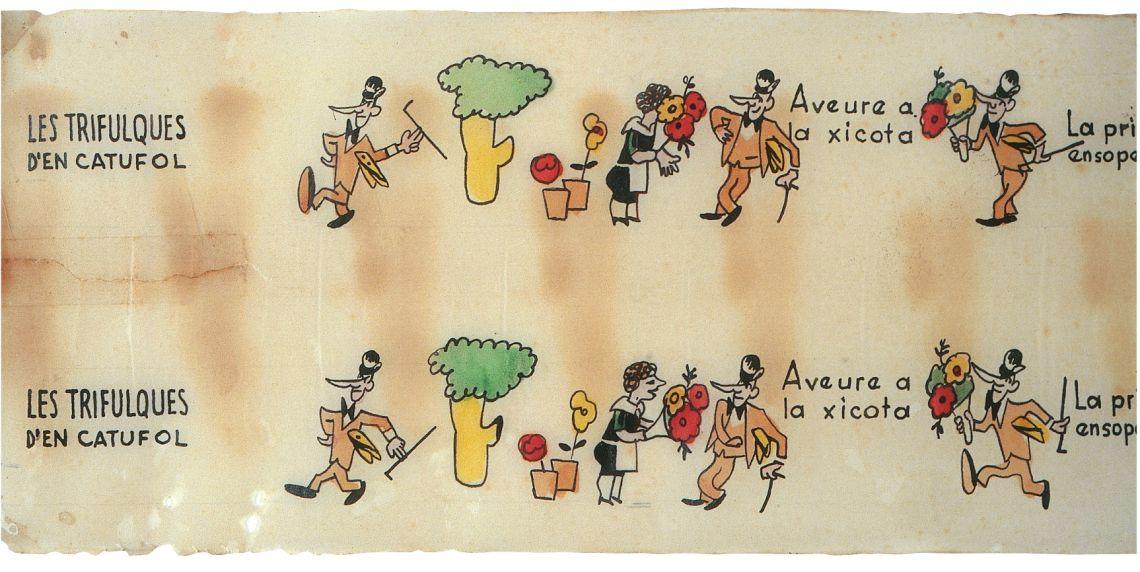 Les trifulques d'en Catúfol, pel·lícula de dibuixos animats (fragment), Cine NIC, Barcelona, 1936-1939