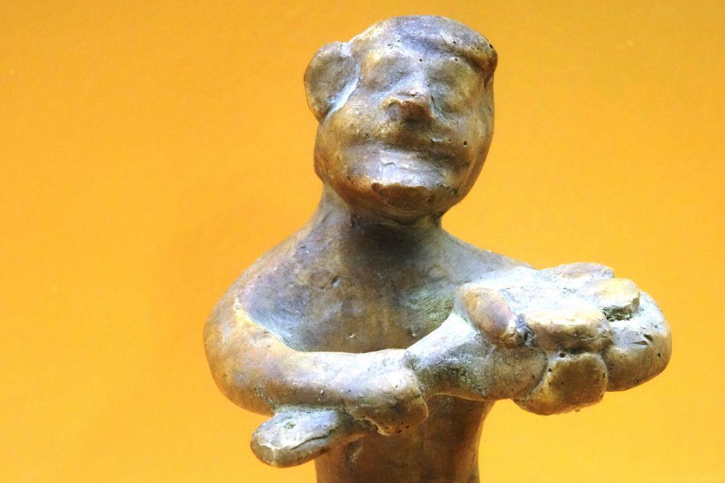 Reproducción de figurita de terracota representando el oficio de panadero. El original está en el Museo de Arqueología de Cataluña – Empúries. Foto: © MJC