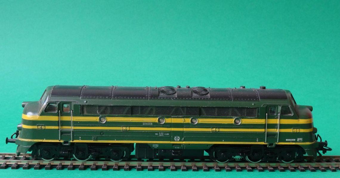 Locomotora dièsel fabricada el 1965 per l'empresa alemanya de trens en miniatura Märklin. Foto: © MJC
