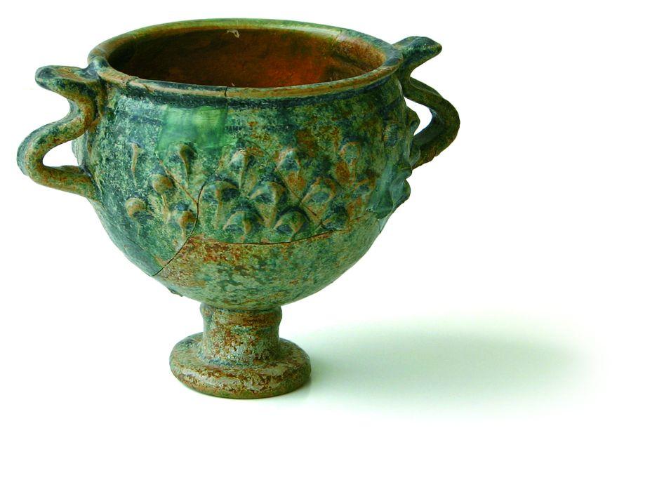 Copa, segles I aC - II dC, ceràmica vidrada. Jaciment de Cal Ros de les Cabres