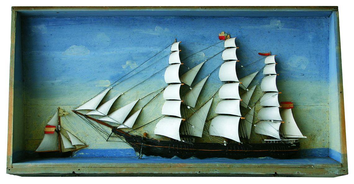Maqueta de medio buque