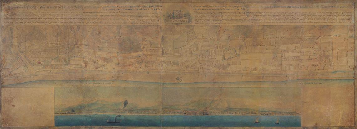 Plano geométrico del Masnou, Miquel Garriga i Roca (Alella, 1804 - Barcelona, 1888), 1846, tinta sobre papel
