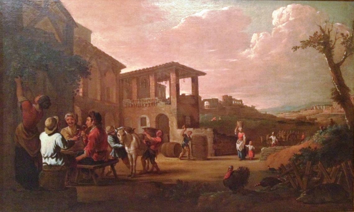La tardor (Autumn), Antoni Viladomat i Manalt, oil on canvas, between 1700 and 1755. MNAC deposit (Ramir Lorenzale bequest)