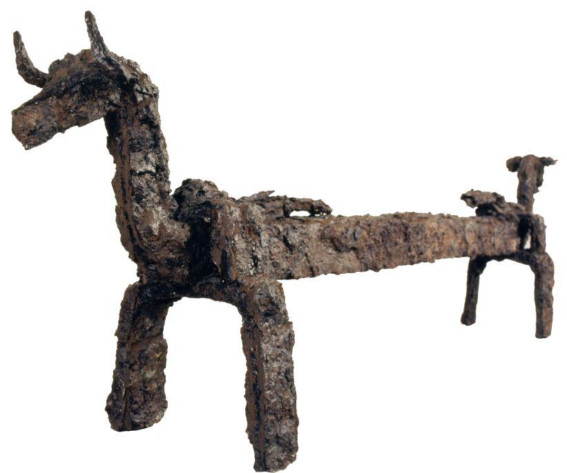 Capfoguer ibèric trobat al jaciment del Puig Castellar
