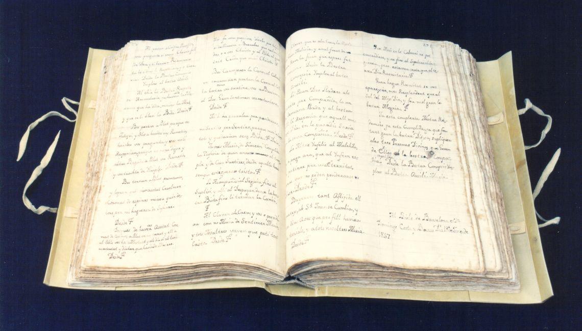 Manuscrit de Jaume Galobardes
