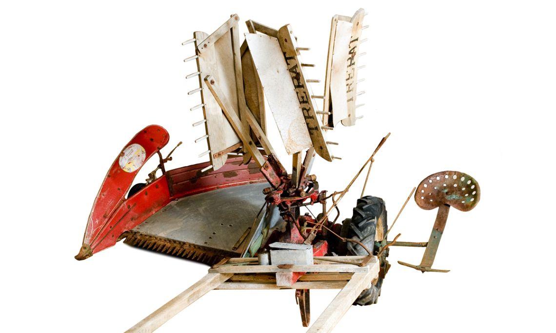 Màquina construïda a la fàbrica J. Trepat de Tàrrega (Urgell).