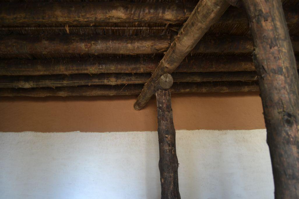 Detall del sostre de la casa de l'ibèric ple
