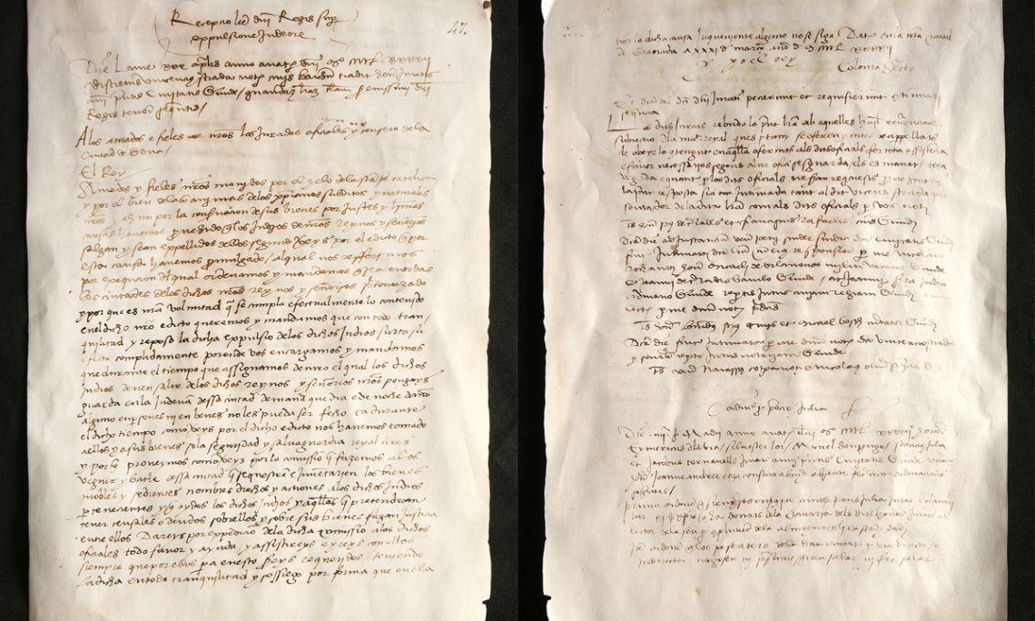 Édit d'expulsion, 1492. Manuel d'Accords, 20 avril 1492. Reproduction (original aux Archives Municipales de Gérone)