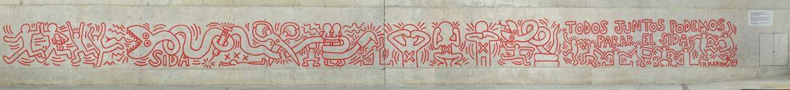 Keith Haring 'Todos juntos podemos parar el sida'(Together We Can Stop AIDS), 1989 (1996) (1998) (2014)