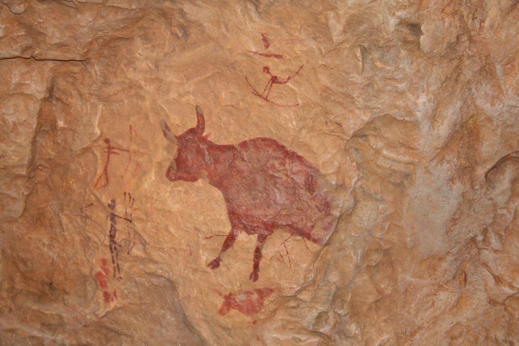 Conjunt figuratiu o naturalista amb una de les figures realistes de dimensions més grans descobertes a les muntanyes de Prades.