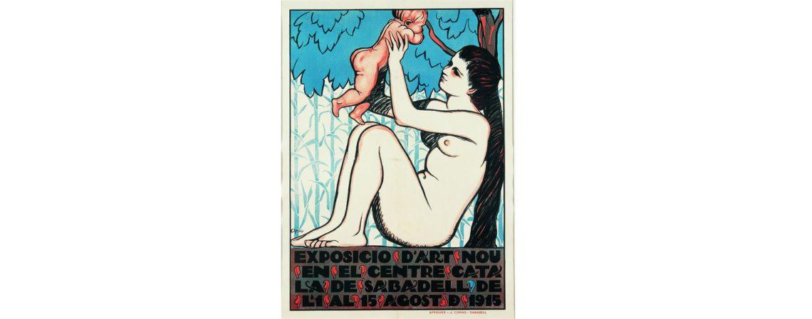 Cartel de la exposición «Arte Nuevo catalán», Feliu Elias, 1910, serigrafía, 83 × 61 cm