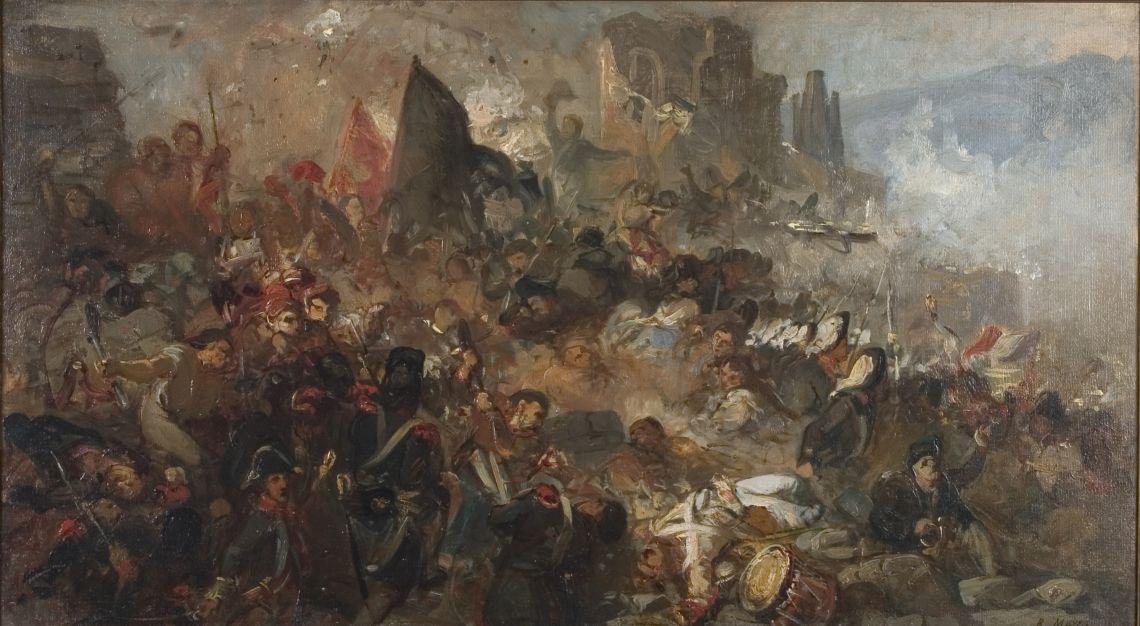 Boceto paraEl gran dia de Girona, Ramon Martí Alsina,c. 1859