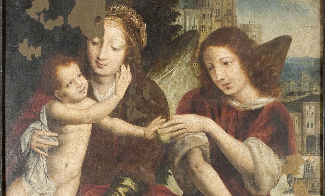 Vierge à l'enfant avec un ange, Jean Massys, XVIe siècle