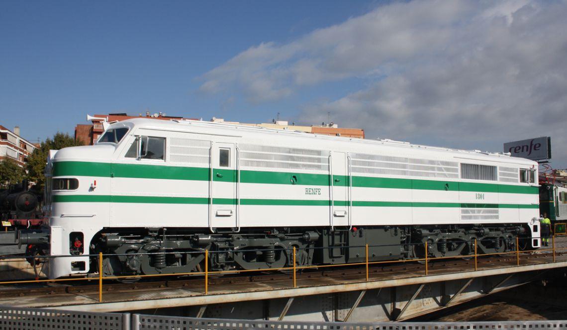 Locomotora 1801 tras su restauración