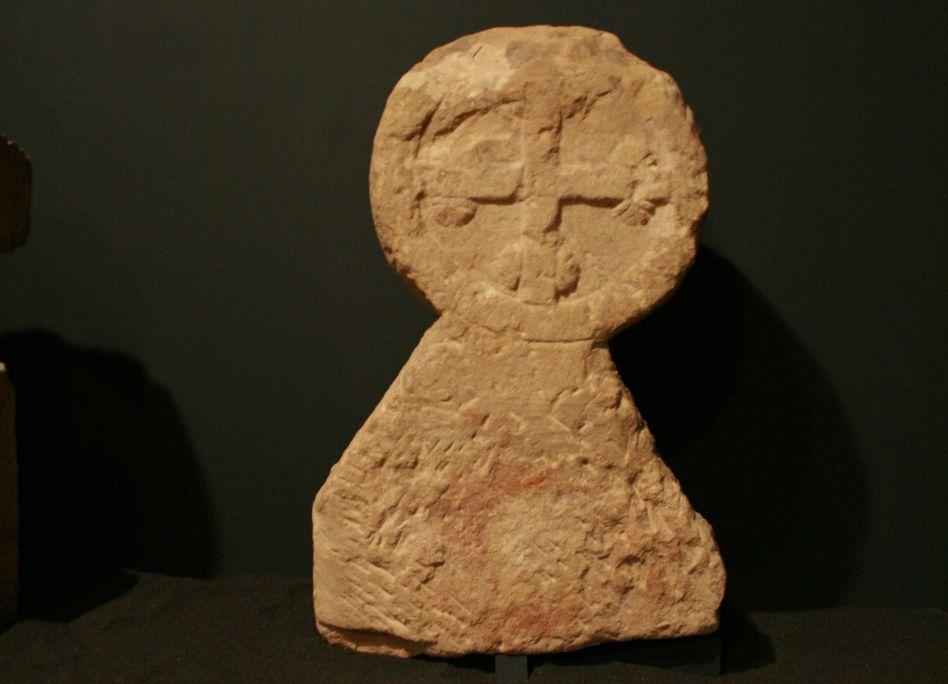 Estela discoïdal funerària procedent de Vilalba dels Arcs.