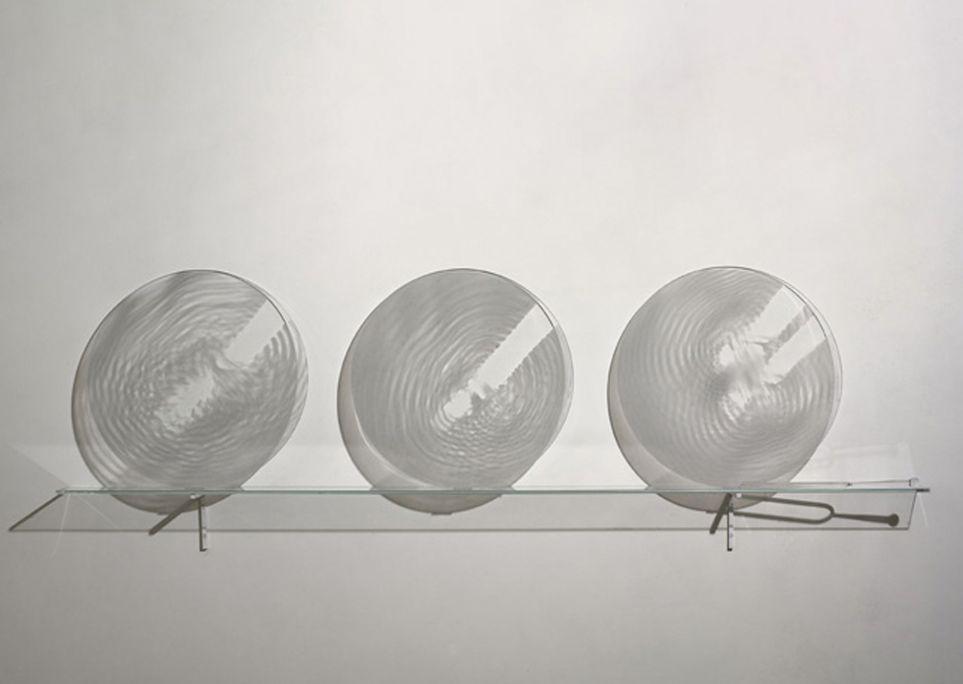 La, la, la, Bernard Moninot, 2005, serigrafía sobre vidrio y diapasón de cristal
