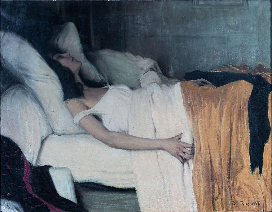 Santiago Rusiñol, La morfinòmana, 1894, París, oli sobre tela