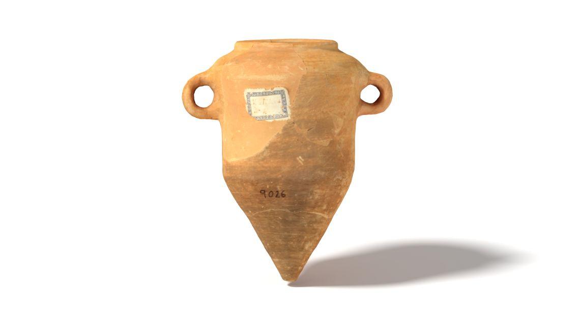 Miniatura d'àmfora ibèrica procedent del Turó de la Rovira (Barcelona). Data entre s. IV aC i s. II aC