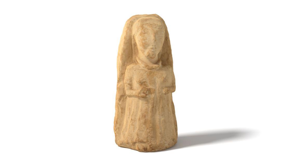 Dama ibèrica procedent d'un jaciment desconegut de Múrcia. Datada entre els segles IV-II aC