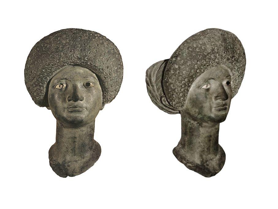 Busto de bronce procedente de Empúries (L'Escala). Data de entre el año 79 y 96d.C.