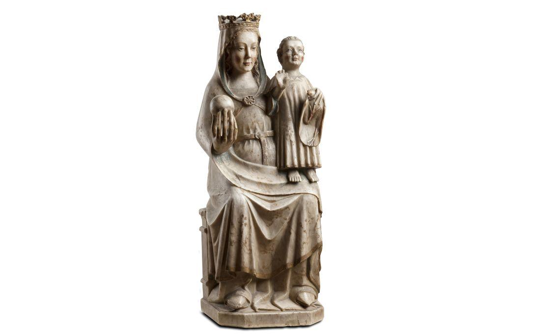 Mare de Déu, anònim, monestir de Sant Miquel del Fai (Vallès Oriental, Barcelona), c.1330-1340, Catalunya, alabastre policromat. Col. Dr. Jesús Pérez-Rosales