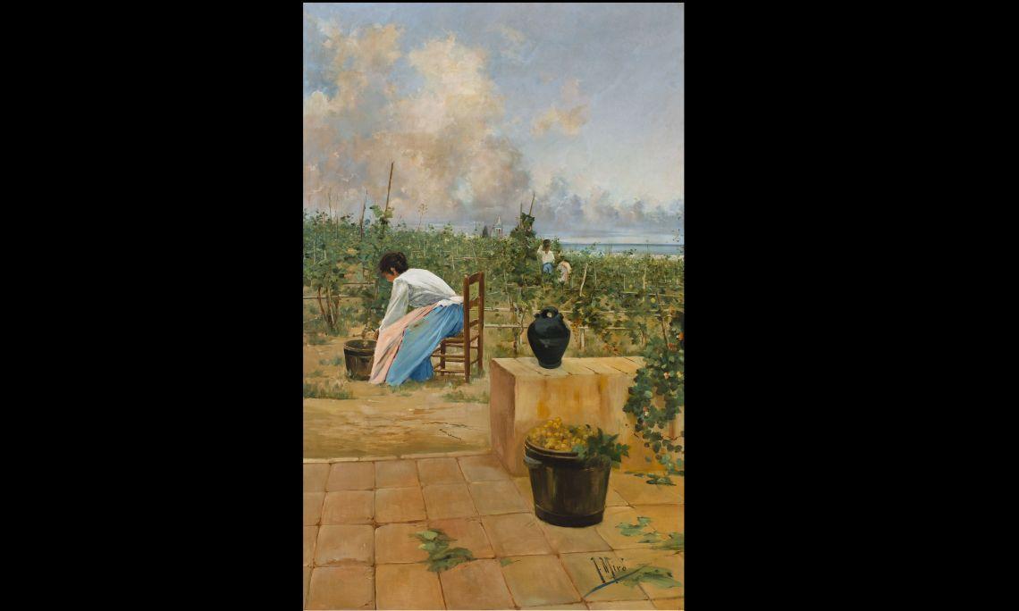 La recol·lecció de la malvasia, Joaquim de Miró i Argenter, 1895, Sitges, oli sobre tela. Fons Cau Ferrat