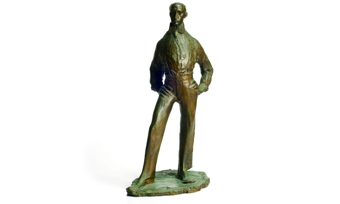 Retrat de Miquel Utrillo (Retrato de Miquel Utrillo), Ismael Smith i Marí, 1910, bronce. Col. Dr. Jesús Pérez-Rosales