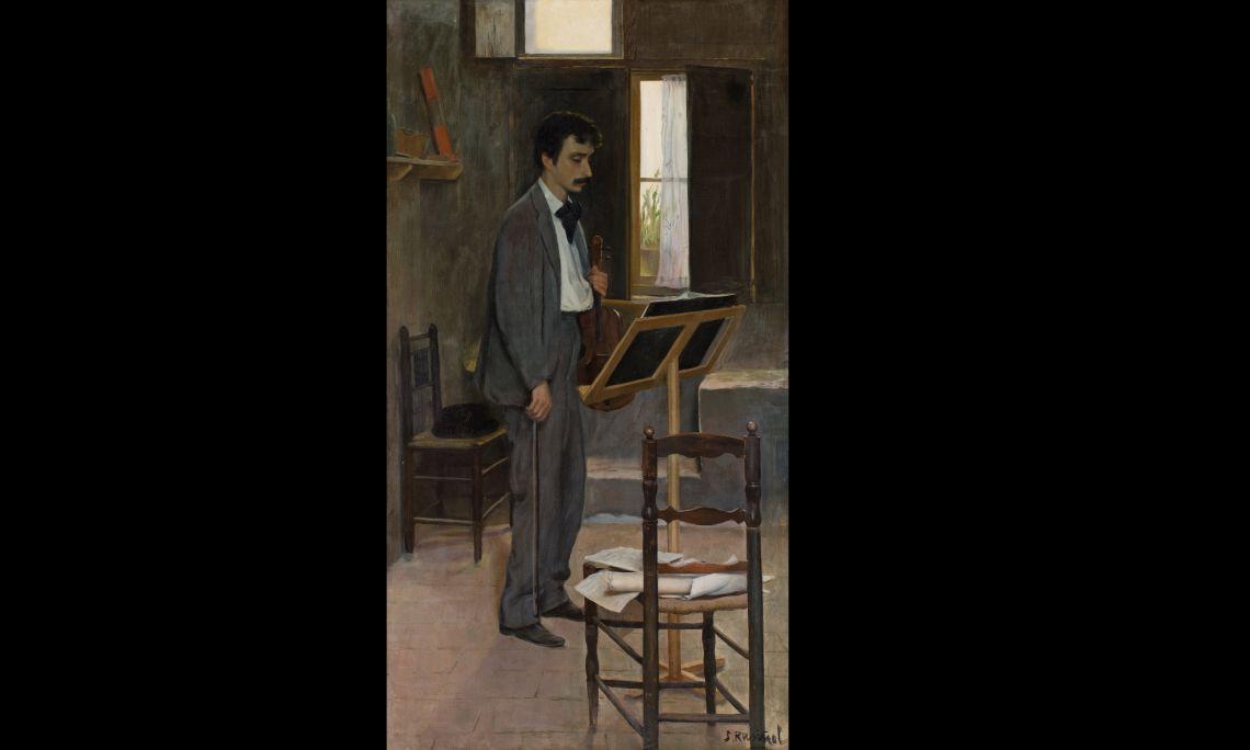 """Retrat de Salvador Robert, en """"Tirano"""", Santiago Rusiñol i Prats, c. 1894, Sitges, oli sobre tela. Col·l. Art de la Vila de Sitges"""