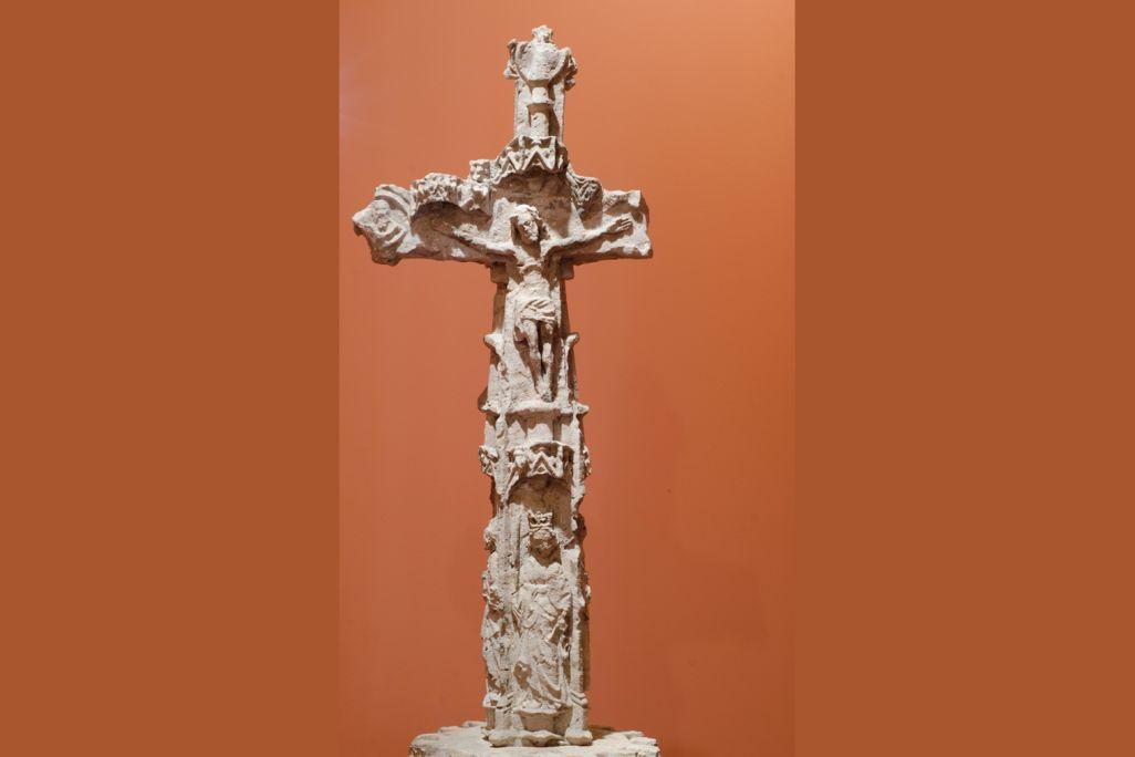 Crucero de La Culla, siglos XIV-XV, escultura en piedra