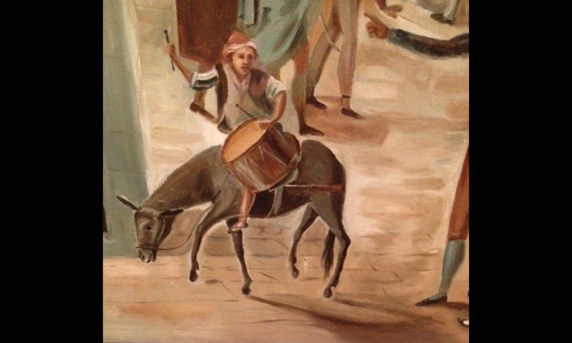 Arribada del sometent a Manresa (Arrival of the Militia to Manresa), Francesc Cuixart i Barjau, 1897, oil on canvas