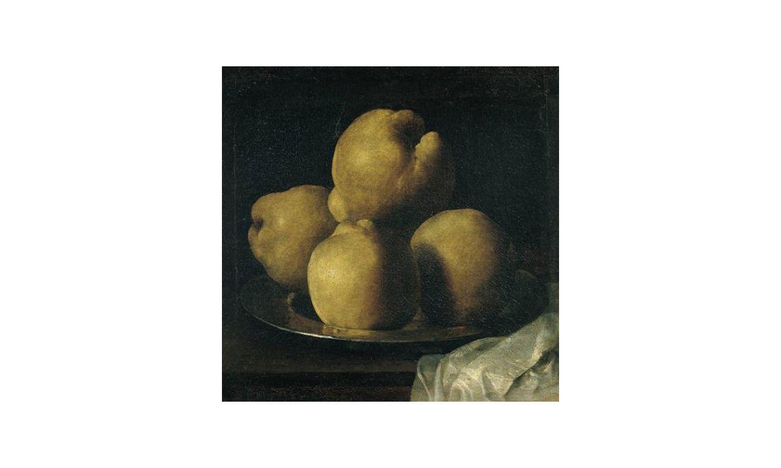 Still life with bowl of quinces,Francisco de Zurbarán, 17th century. Oil on canvas, 35 x 40.5 cm.
