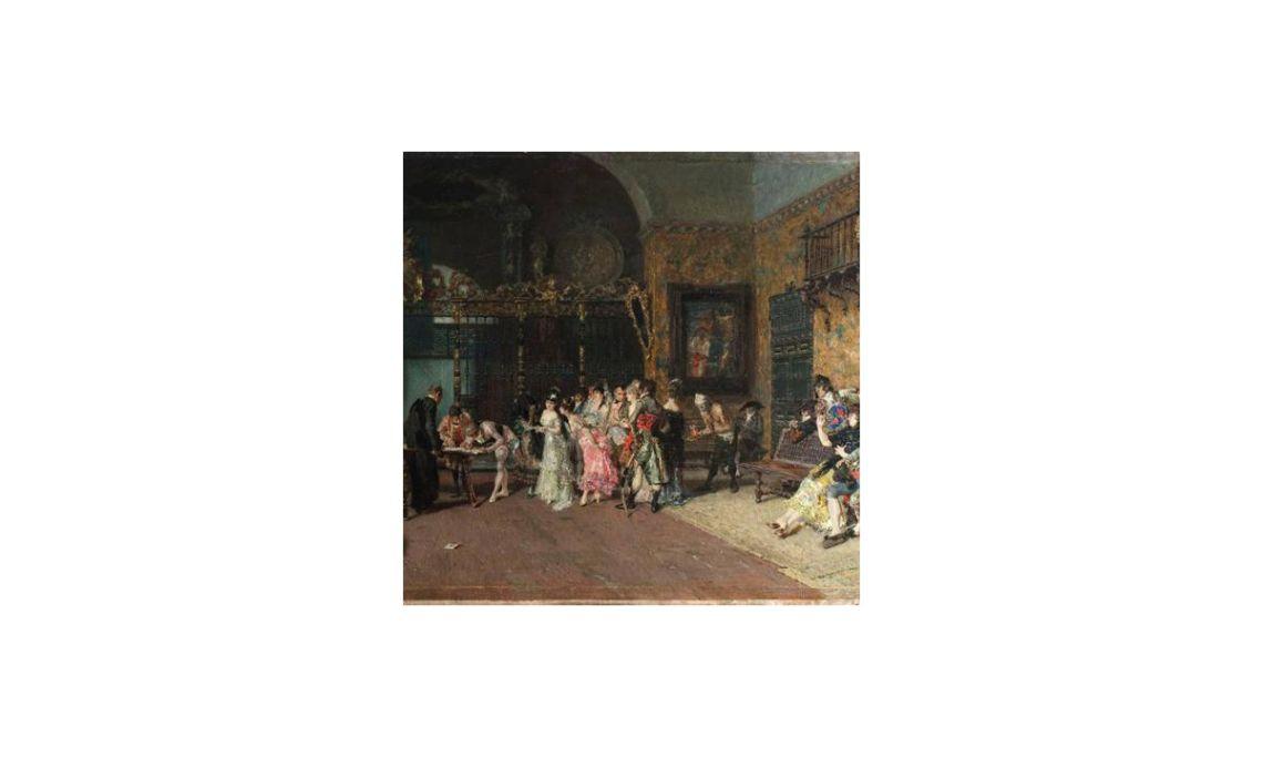 The Spanish wedding, Marià Fortuny, 19th century. Oil on wood,60.5 x 94.5 cm.