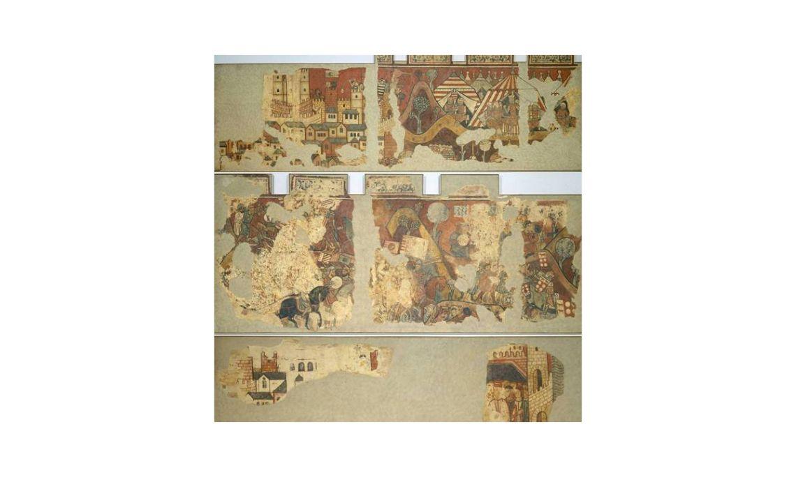 Pintures murals de la Conquesta de Mallorca, Mestre de la Conquesta de Mallorca, segle XIII.Fresc traspassat a tela.