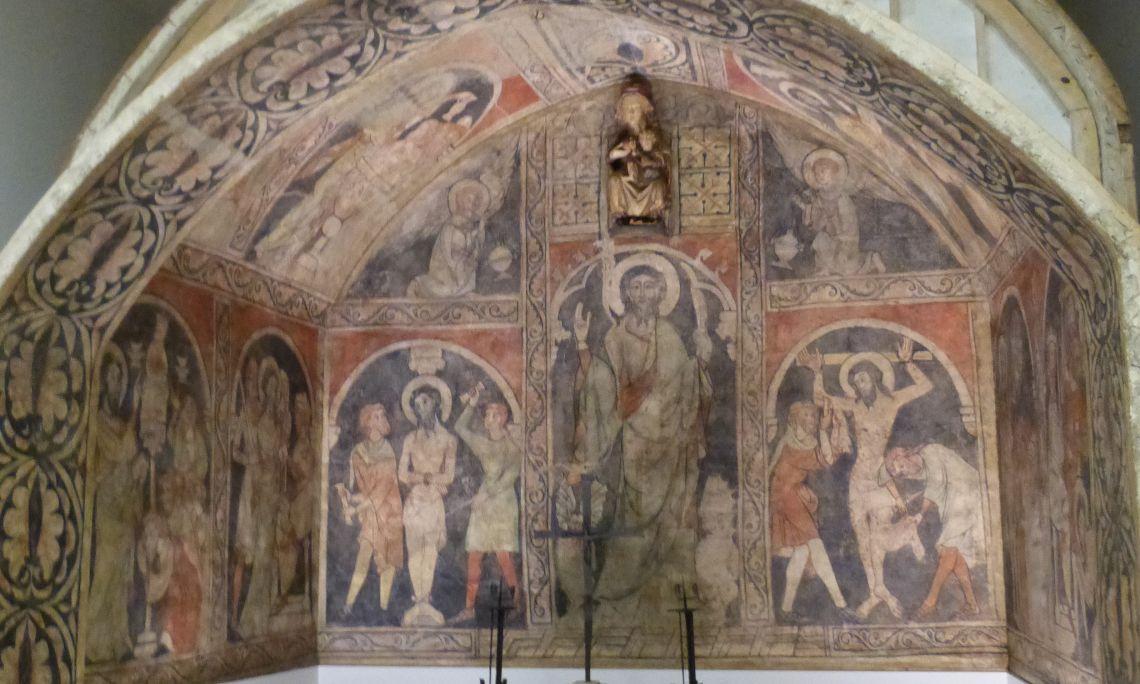 Cicle de la vida i del martiri de sant Bartomeu Apòstol, anònim aragonès, segon quart del segle XIV, capella de Sant Bartomeu, adossada a la capçalera de l'església parroquial de Sant Cristòfol d