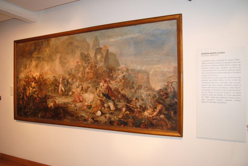 El gran dia de Girona (El gran día de Girona), Ramon Martí i Alsina,c. 1862, pintura preparatoria, óleo sobre tela. Depósito del MNAC
