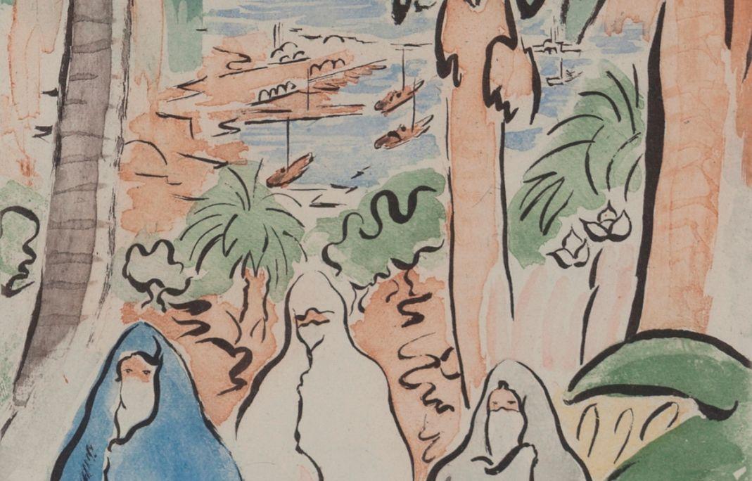 Images d'Alger, Alfred Figueras Sanmartí, 1948, aquarelle