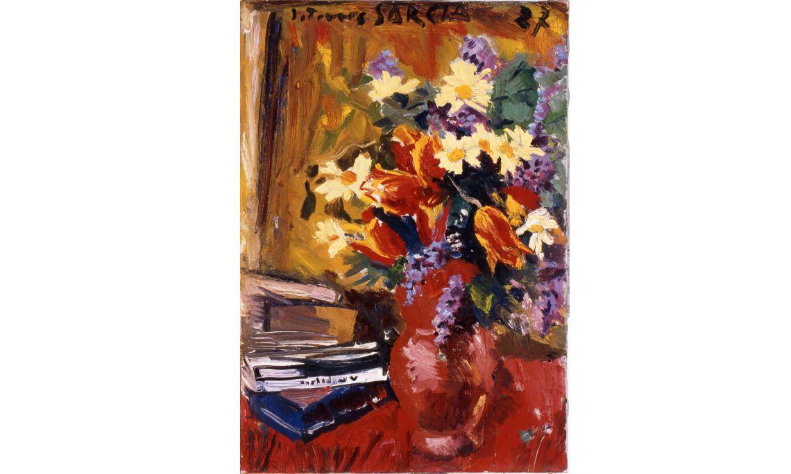 Natura morta: gerro amb flors, Joaquim Torres García, 1927, oli sobre tela, 55 × 38 cm. , MdT 139 Foto: Teresa Llordés