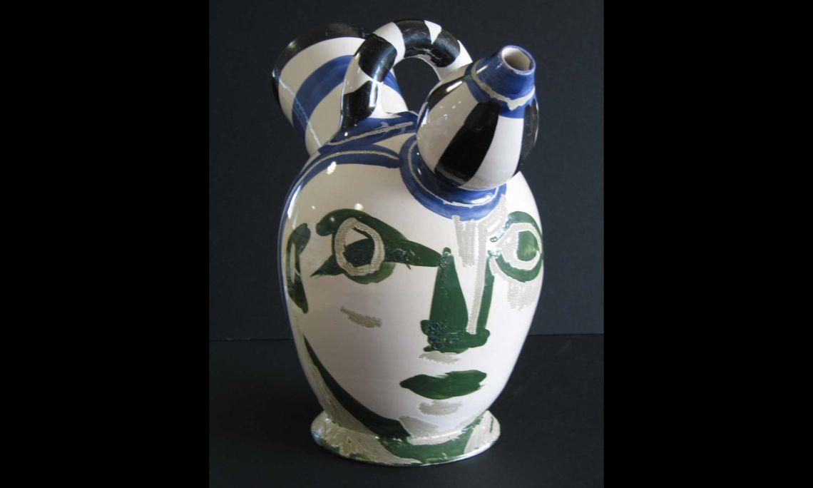 Càntir «cap masculí», Pablo Ruiz Picasso, 1952, 32,5×38cm, Valàuria (França)