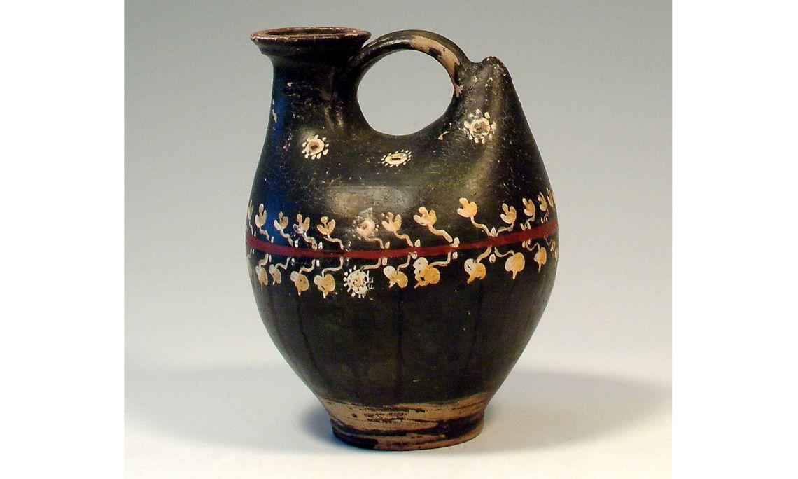 Askos, cultura griega, sigloIVa. C., 22,5×18,5cm, Campania (Italia)