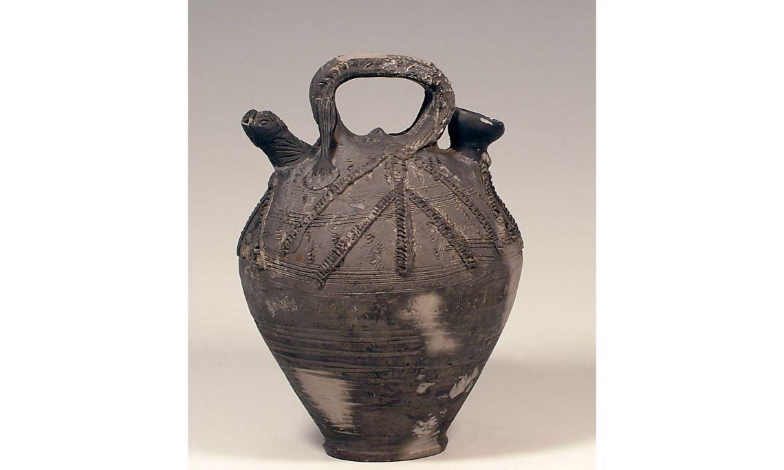 Càntir, segleXV, 27×22cm, Barcelona. Dipòsit Museu de Ceràmica de Barcelona