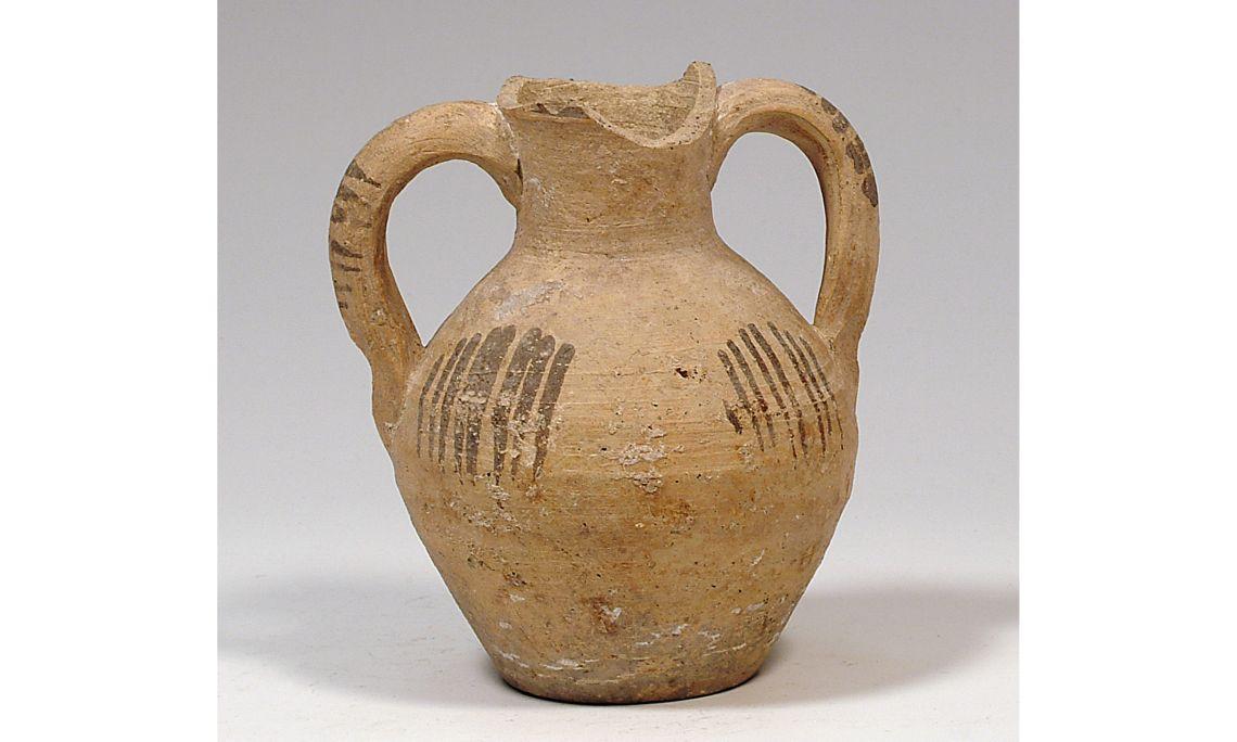 Cantarilla, cultura islámica, siglosXIV-XV, 15×13cm, Paterna (Valencia)