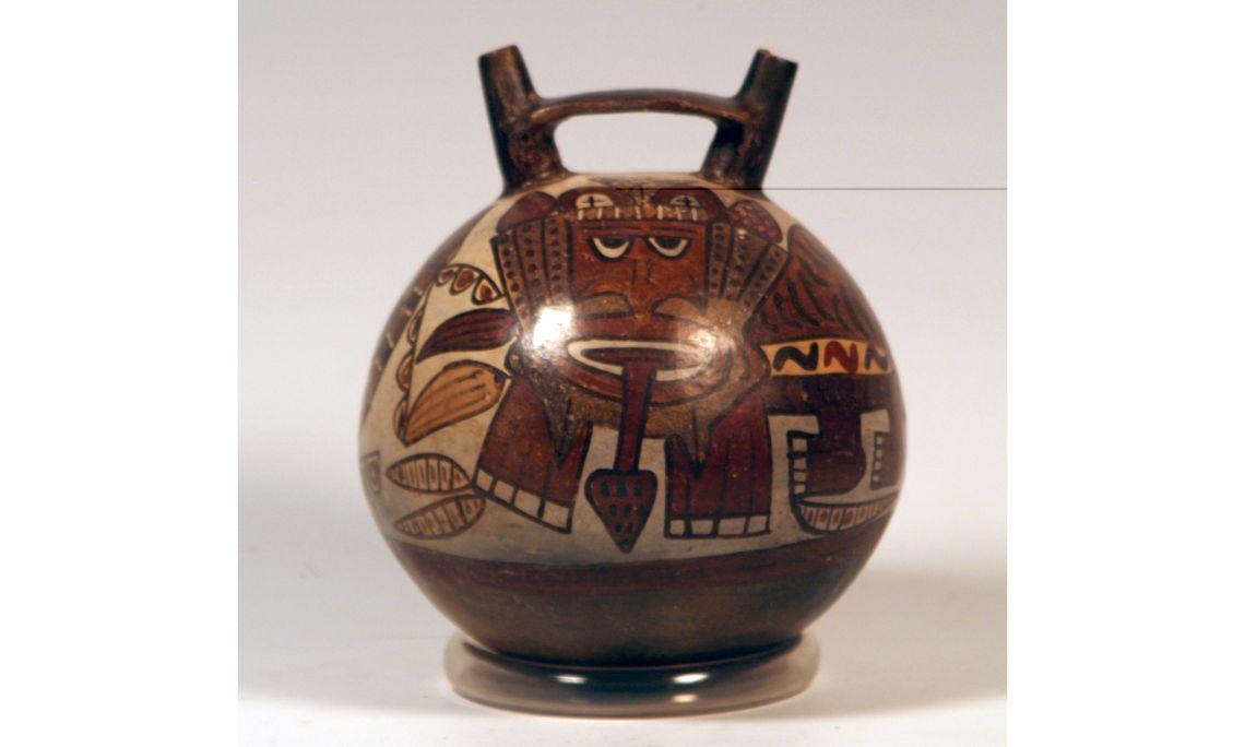 Càntir de la cultura nasca, segles I-II dC, 19,6 × 16 cm, Perú