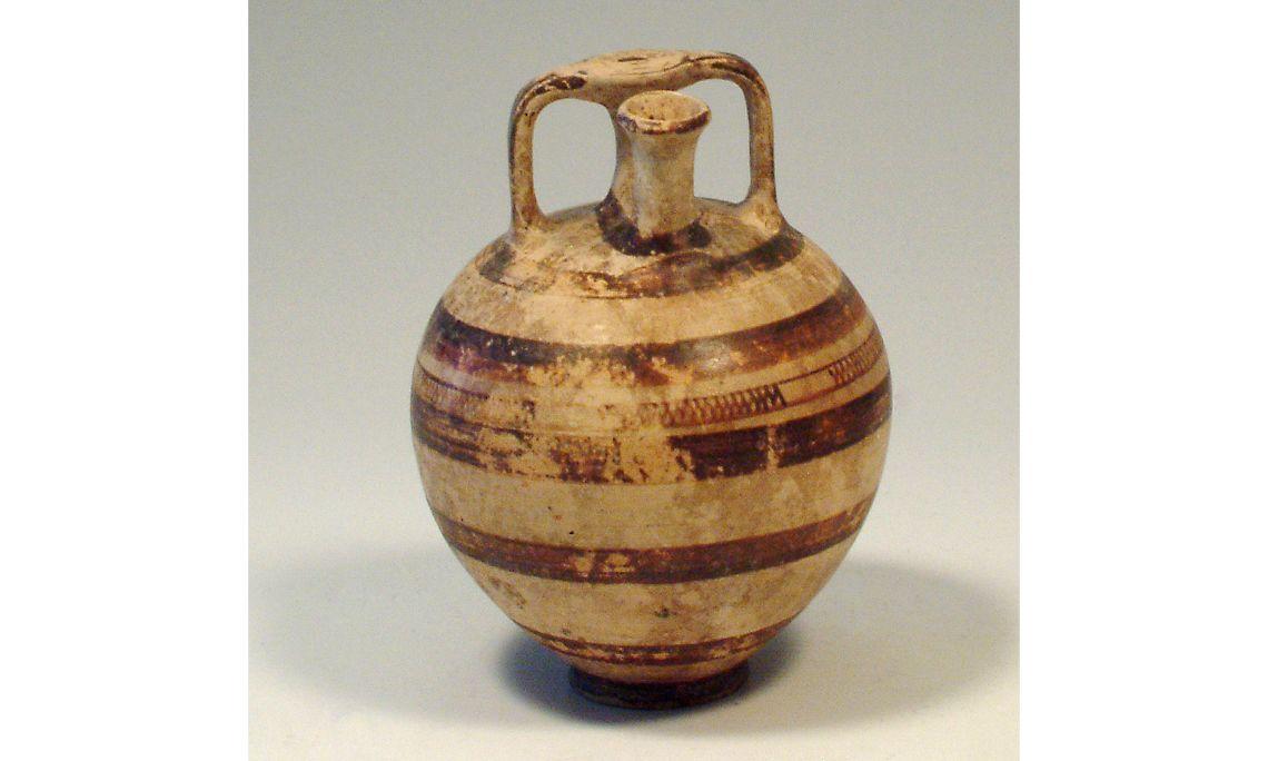 Vas d'estrep, cultura micènica, 1600-1200aC, 15×11cm