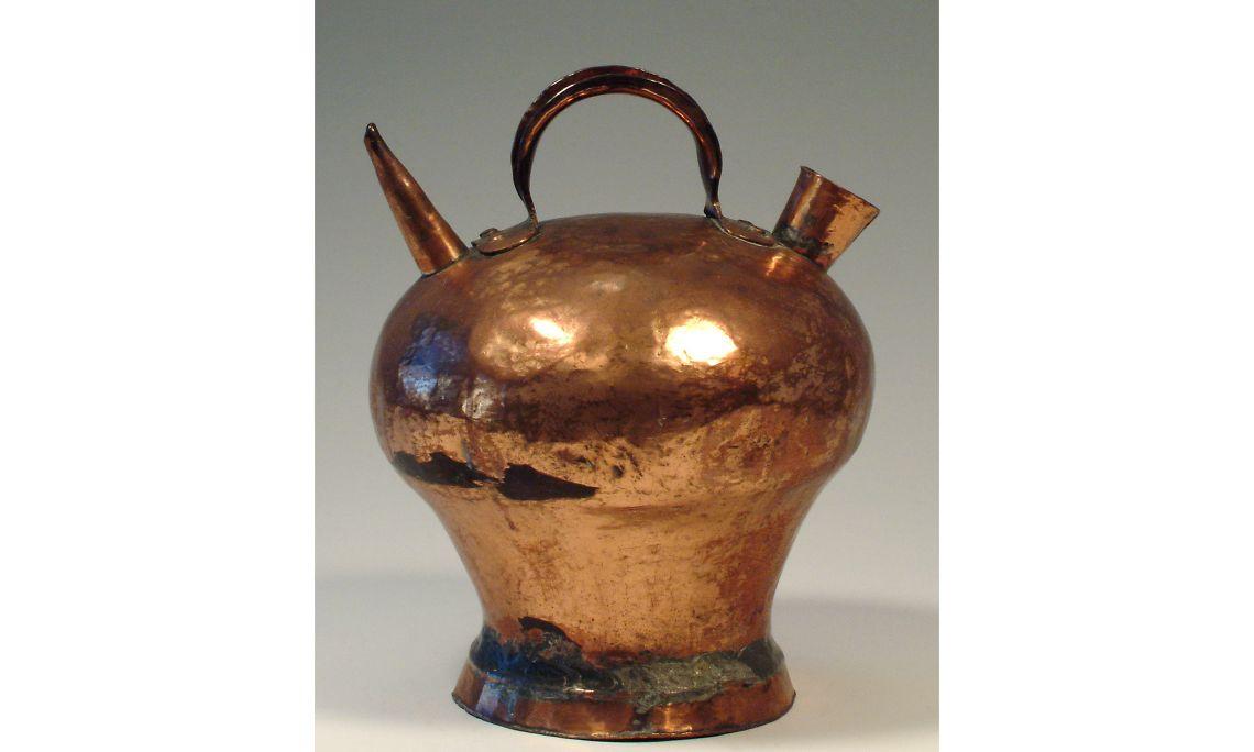 Botijo de metal, primera mitad del sigloXX, 31×23,7cm, Cataluña
